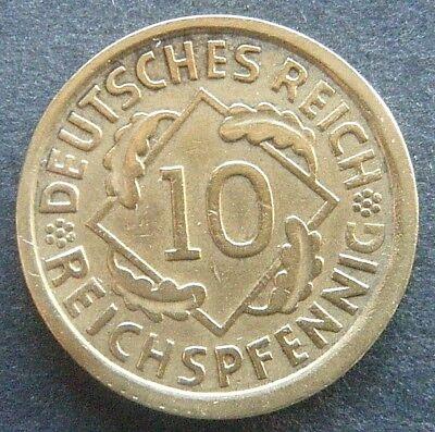 Weimar, 10 Reichspfennig 1935 A, Jä. Nr. 317,