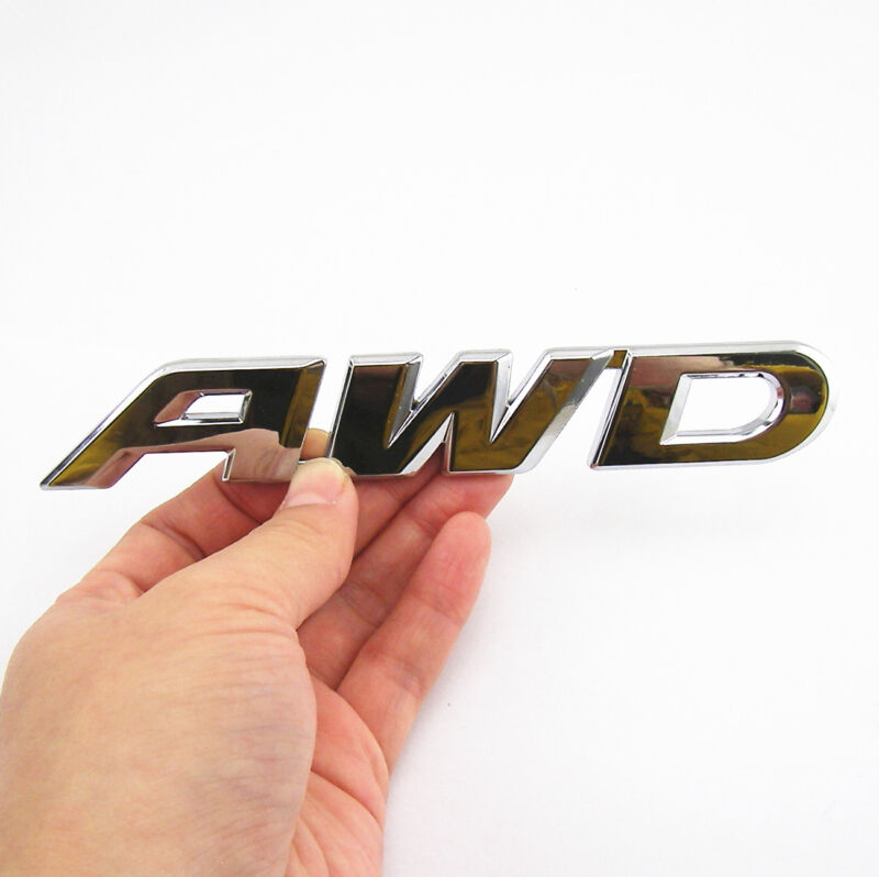 Tailgate AWD 3D Chrome 100% Metal Emblem Sticker Badge 4 Wheel Drive SUV Offroad