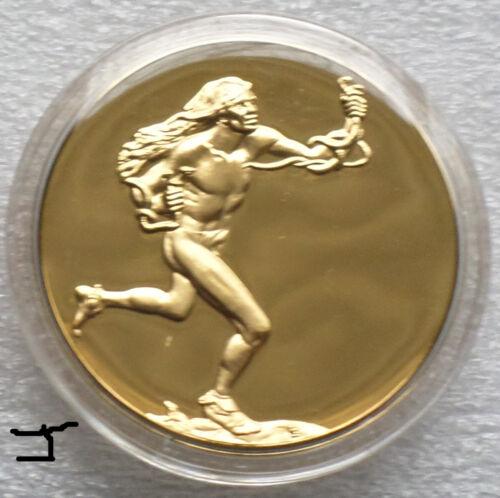 """24K Gold Bronze Medal """"The Returning of The Snakes: Moqui Prayer For Rain"""""""