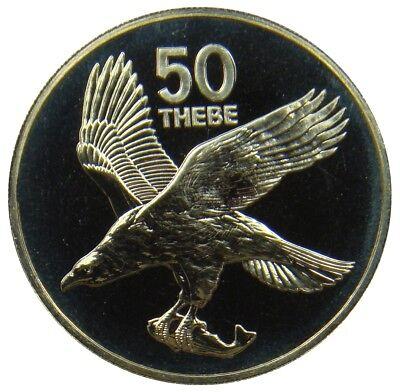 (P257) - Botsuana Botswana - 50 Thebe 1976 - Schreiseeadler Adler - Proof KM# 7