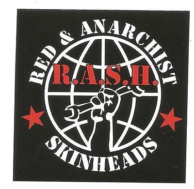 50x RASH Red Skins Aufkleber stickers Punk Anti Nazi Oi Ska Skinhead Redskins