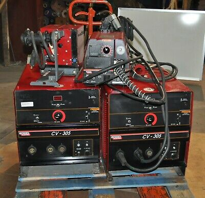 Lincoln Cv305 Mig Welder With Lf-72 Feeder