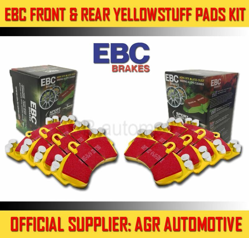 EBC YELLOWSTUFF FRONT + REAR PADS KIT FOR LEXUS IS220D 2.2 TD 2005-11