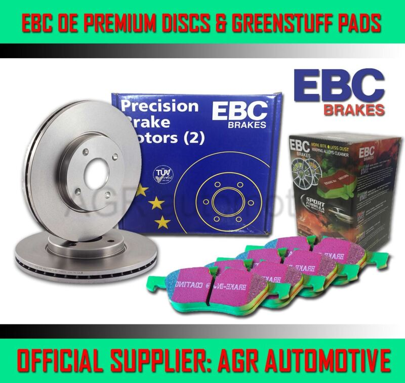 EBC FRONT DISCS AND GREENSTUFF PADS 296mm FOR LEXUS IS300H 2.5 HYBRID 2013-