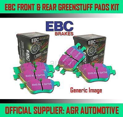 EBC GREENSTUFF FRONT + REAR PADS KIT FOR SEAT TOLEDO 2.0 TD 140 BHP 2005-09