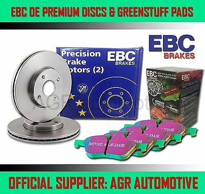 EBC REAR DISCS AND GREENSTUFF PADS 255mm FOR SEAT TOLEDO 1.9 TD 103 BHP 2005-09