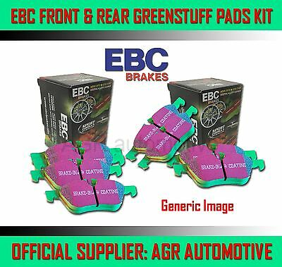EBC GREENSTUFF FRONT + REAR PADS KIT FOR SEAT TOLEDO 1.9 TD 103 BHP 2005-09 OPT2