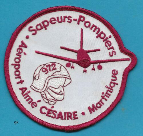 AIME CESAIRE INTERNATIONAL AIRPORT MARTINIQUE FIRE RESCUE PATCH France