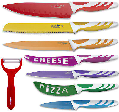 Chopmate Stainless Bite the bullet Non-Stick Ceramic Coated 8 Piece Kitchen Knife Set