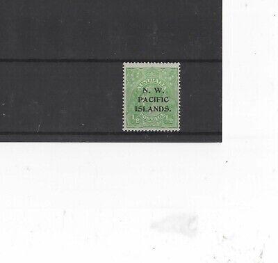 NEW GUINEA , 1918-23, SG102 TYPE 5a 1/2d GREEN, MH       G.C.V.