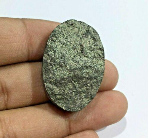 96 Cts Pyrite Druzy Handcrafted Gemstone Size 33x22x8 mm Oval Shape PU-3
