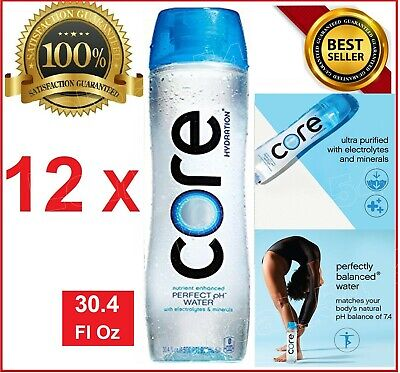 CORE Hydration Nutrient Enhanced Water,PH7.4,Ultra-Purified Electrolytes 12x30.4