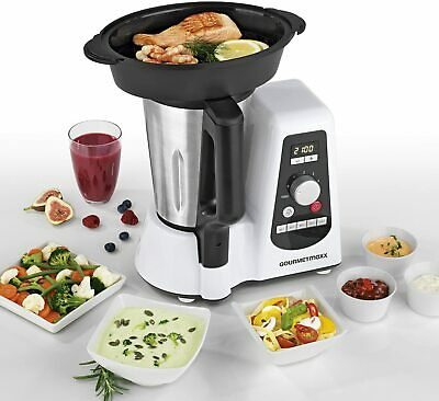 Gourmetmaxx Thermo Multikocher 8in1 Küchenmaschine Mixer Dampf 1100W 1,5L Timer
