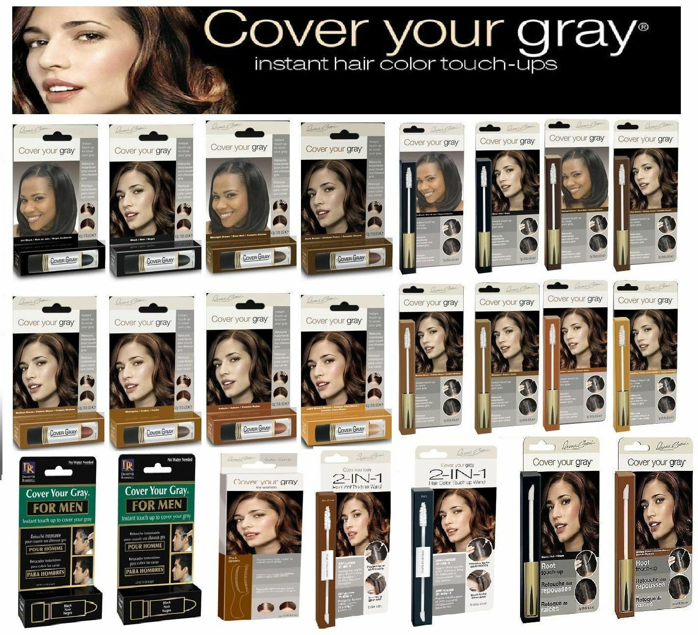Cover Your Gray Hair Instant Colour For Men Women Cover Your Grey Hair Uk For Sale Online