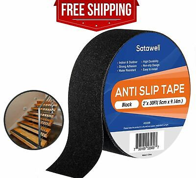 Afety Anti Slip Tape Rubberized 2 X 30 Roll Non Skid Stairs Grip Boat Step