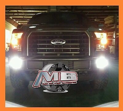 Plug & Play 2015-2016 Ford F150 Putco LED Driving Bumper Fog Lights 2400 Lumens Putco Driving Lights