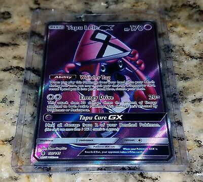 Pokemon Guardians Rising TAPU LELE GX 137/145 Full Art Ultra Rare Holo NM
