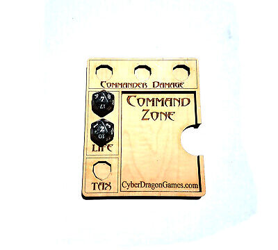 Commander Command Zone EDH Fits Standard Magic MTG Game Movement Card Dice Tray