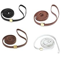 Flat Show Lead w/Adj Fastener for Dogs - 2 sizes - 4 colors - invisible string