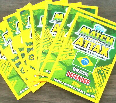 MATCH ATTAX 2014 WORLD CUP 100 BASE CARDS  ALL DIFFERENT+ 2  SHINEYS  MINT
