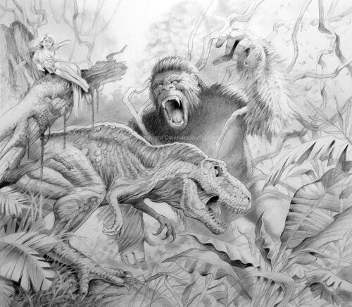 """Kong!"" Original Drawing"