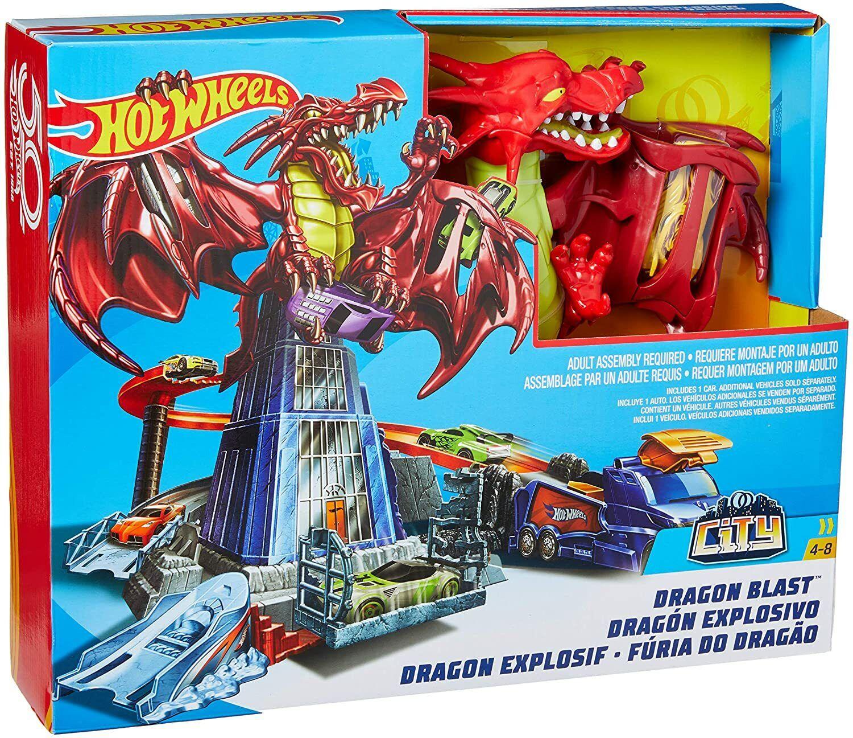 Hot Wheels Dragon Playset Boys Track Set Car Toy Play Bedroo