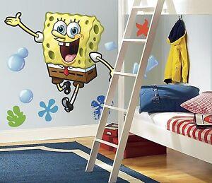 SPONGEBOB SQUAREPANTS GiAnT Wall Decals Room Decor Stickers Nickelodeon Mural