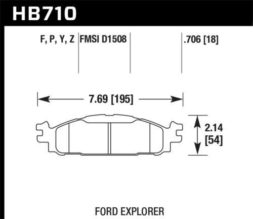Hawk HB561F.710 HPS High Performance Street Brake Pads Front Set