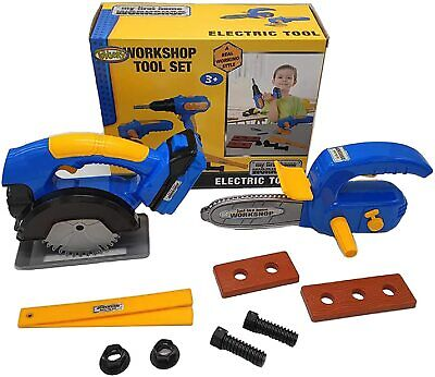 Kids Workshop Tool Set - Educational Construction Toys Power Tools for Kids-10Pc