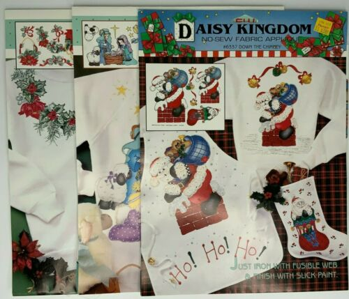 Christmas Daisy Kingdom Iron On Transfers Applique Lot of 3 #