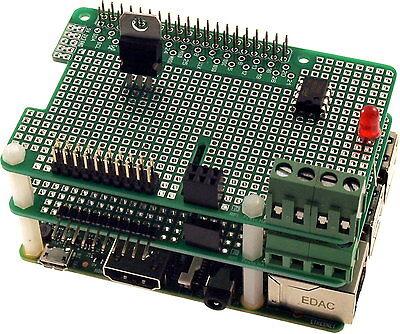 Prototyp-Platine 2,54mm Raspberry Pi3, Pi2, PiB+ + Kontaktleiste + Distanzbolzen