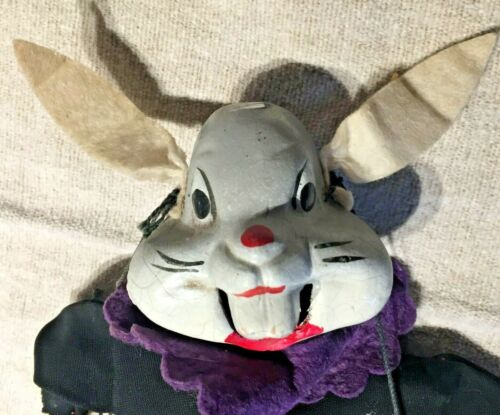 Vintage Bugs Bunny Rabbit Marionette Stringed Puppet Composition Head