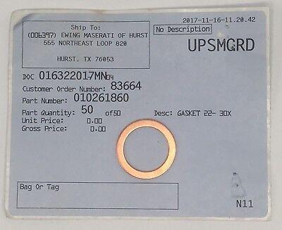 - Genuine Maserati Parts_ Oil Drain Plug Seal 10261860