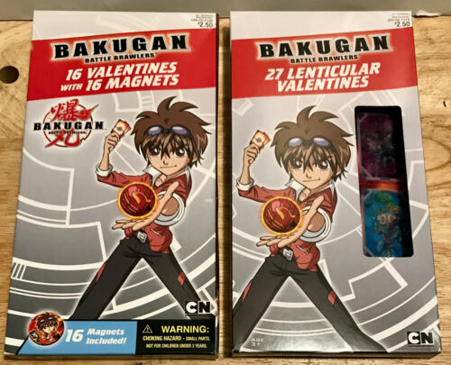 BAKUGAN BATTLE BRAWLERS 16 Valentines with 16 Magnets/27 Lenticular CARTOON NET