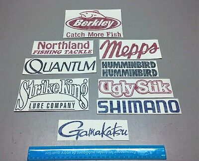 Ugly Stik Boat Rods (Fishing decals, 10 fishing stickers, tackle lure rods ugly stik, boat)