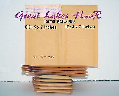 44 Kml-000 Self-sealing Gold Kraft Bubble Padded Envelope Mailers 5 X 7