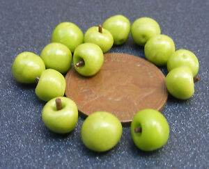 1-12-Scale-11x-Granny-Smith-Apples-Dolls-House-Miniature-Fruit-Accessory