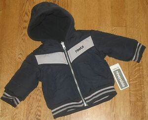 Roots-Reversible-Winter-Parka-Coat-Jacket-Baby-Boys-Size-3-6-Months-Small-NEW