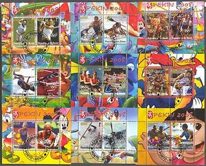 Olympic Games Beijing 2008 Different Sports (III) 9 sheets of 2 Used !