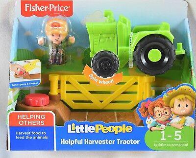 Fisher Price Little People HELPFUL HARVESTER TRACTOR *NEW*