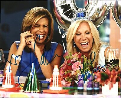 Kathie Lee Gifford   Hoda Kotb Dual Signed Autographed Today Show 8X10 Photo E