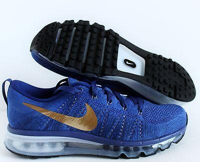 Nike Men's Air Max Flyknit ID Blue-Gold-Grey SZ 8 [845615-992]
