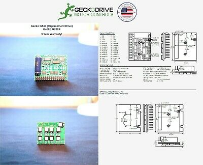 Gecko G540 G250x Replacement Drive 2020 Model 3yr Us Warranty