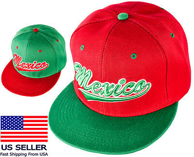 Eagle Flat (Mexico Copa Oro Snapback Eagle Flat Green Mexican Bill Baseball New Gold Cup Red)