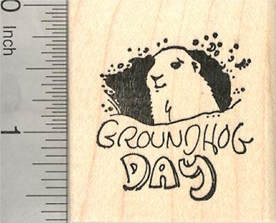 Groundhog Day Rubber Stamp E23310 WM](Groundhog Day Crafts)