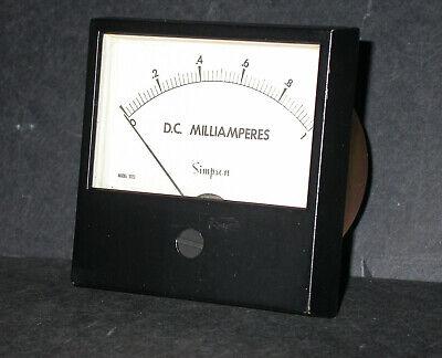 Simpson Model 3323 0-1ma Dc 3 14 Analog Panel Meter