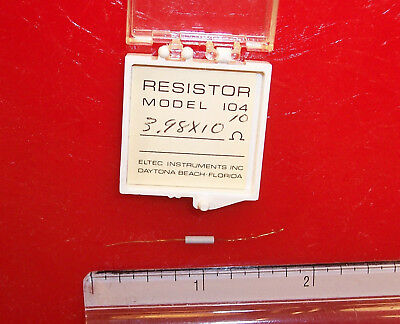 Qty 1 Eltec Model 104 High Megohm Tubular Resistor 3.98x1010