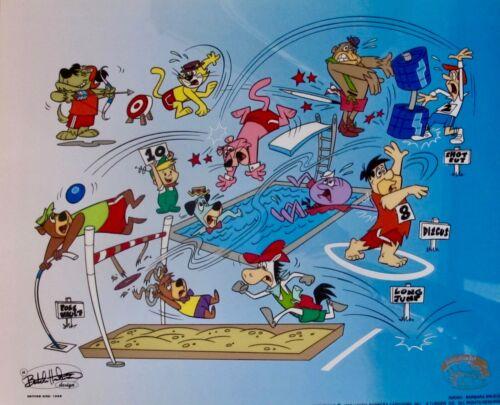 HANNA BARBERA CARTOON OLYMPICS Animation Art Sericel Cel JETSONS YOGI FLINTSTONE