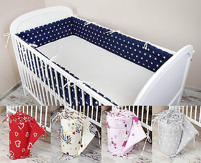Bettumrandung Nestchen Kopfschutz 420x30, 360, 180 Bettnestchen Baby Design NEU ()