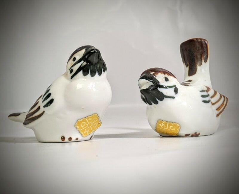 Vintage Japanese Collectible OMC Otagiri Brown Bird  Set Figurine
